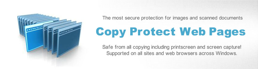 Protect images and web pages from all save and copy